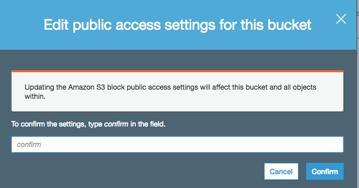AWS S3   Access denied   Unable to grant public access to an