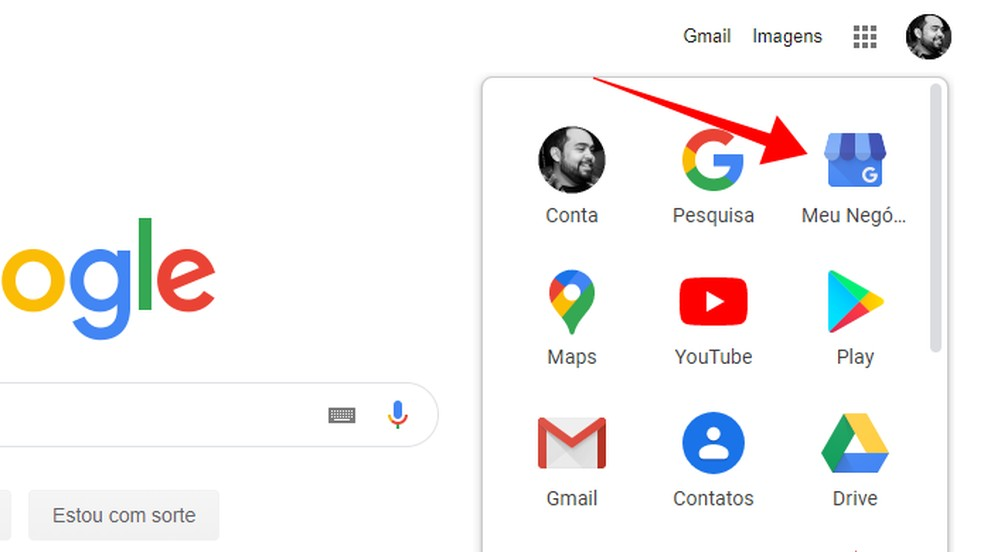 Acesse o Google Meu Negócio — Foto: Reprodução/Paulo Alves