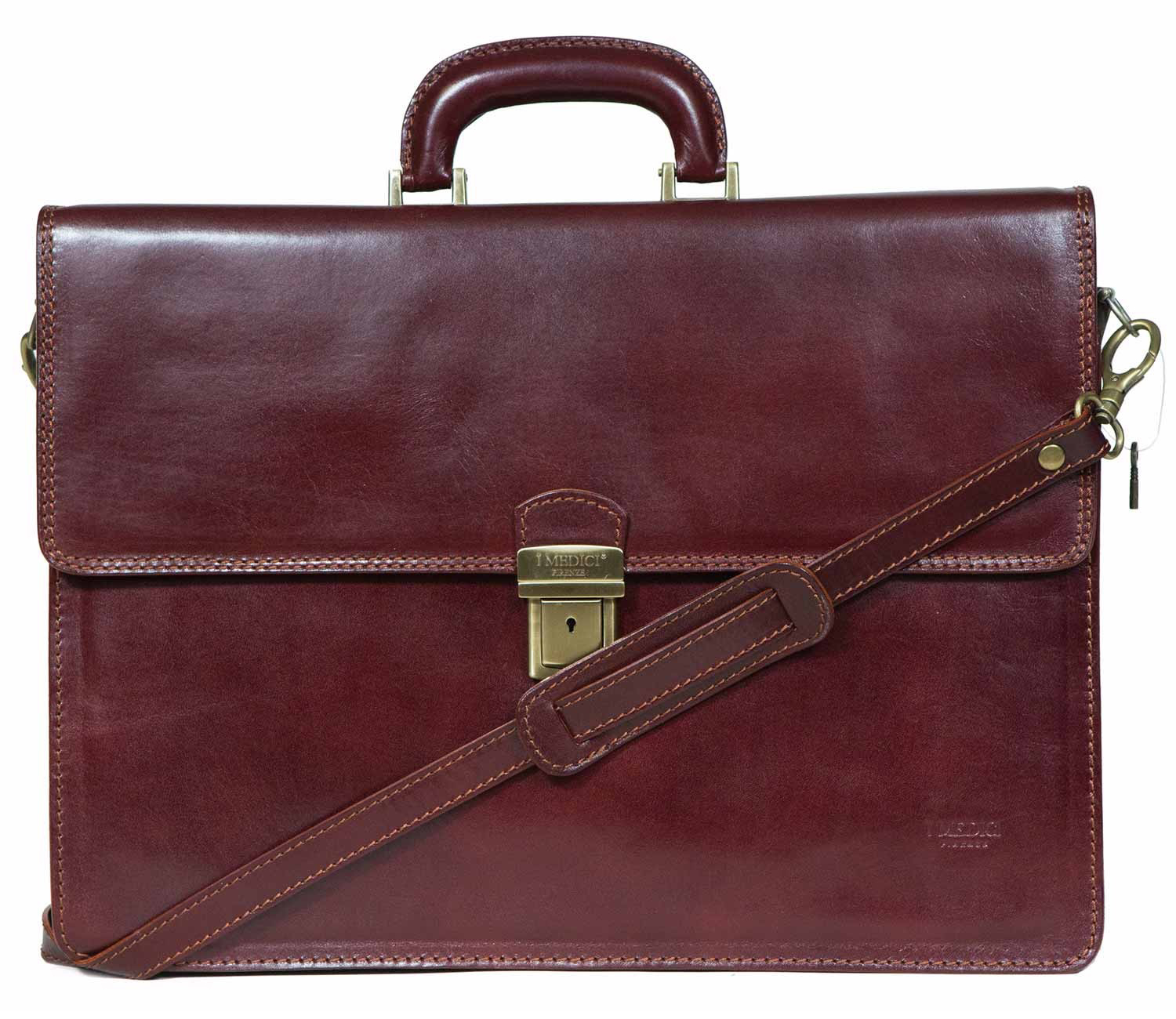Lorenzo Italian Double Compartment Business Bag, Briefcase