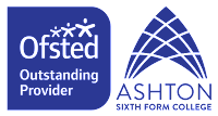 Ofsted Outstanding provider and ASFC college logo