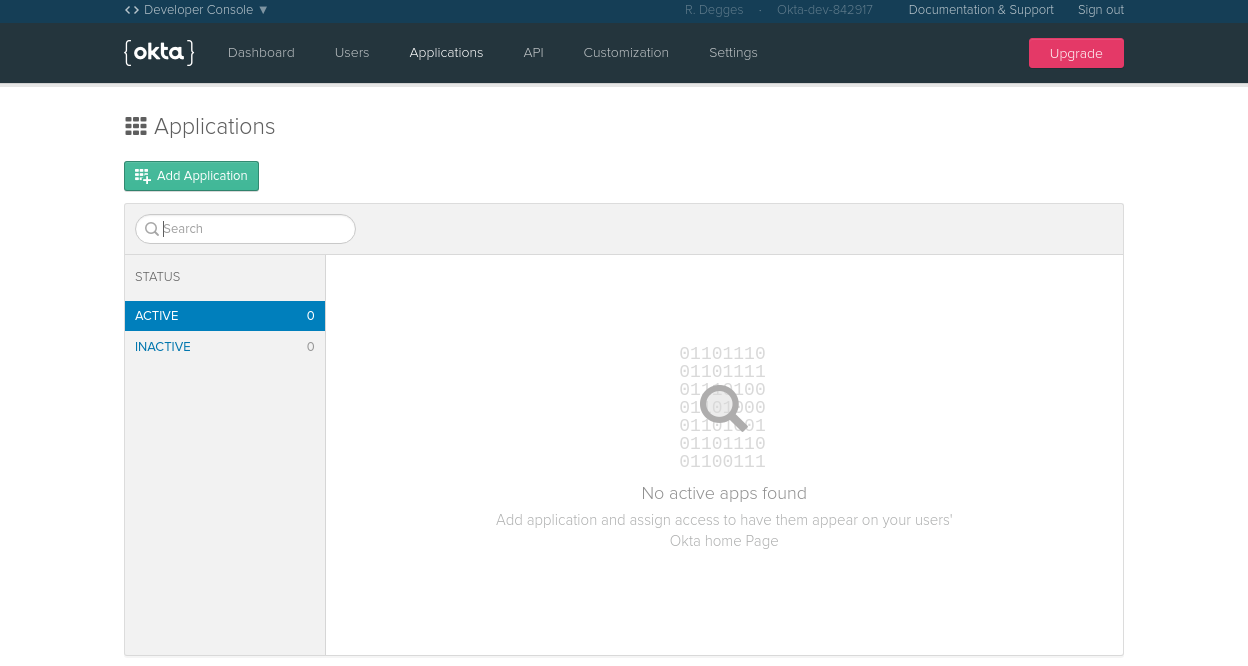 OpenID Connect application in Okta