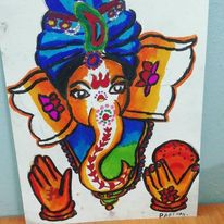 Simple Rangoli Design For Ganesh Chaturthi