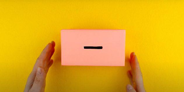 Как сделать копилку своими руками: обклейте коробку бумагой