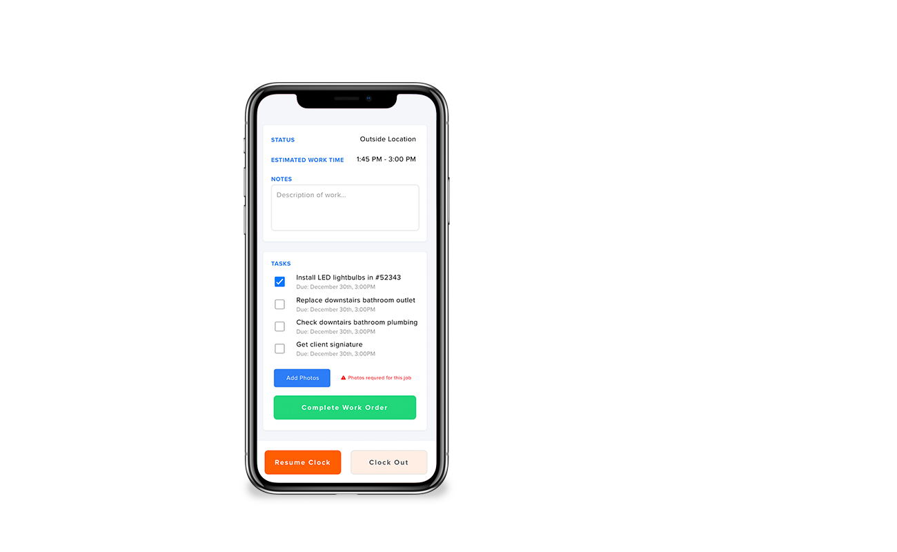 construction mobile app