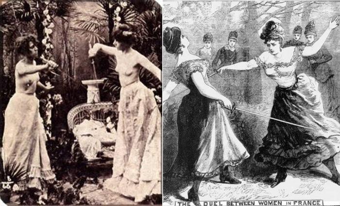 Женские дуэли за рубежом