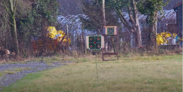 the 50-metre target