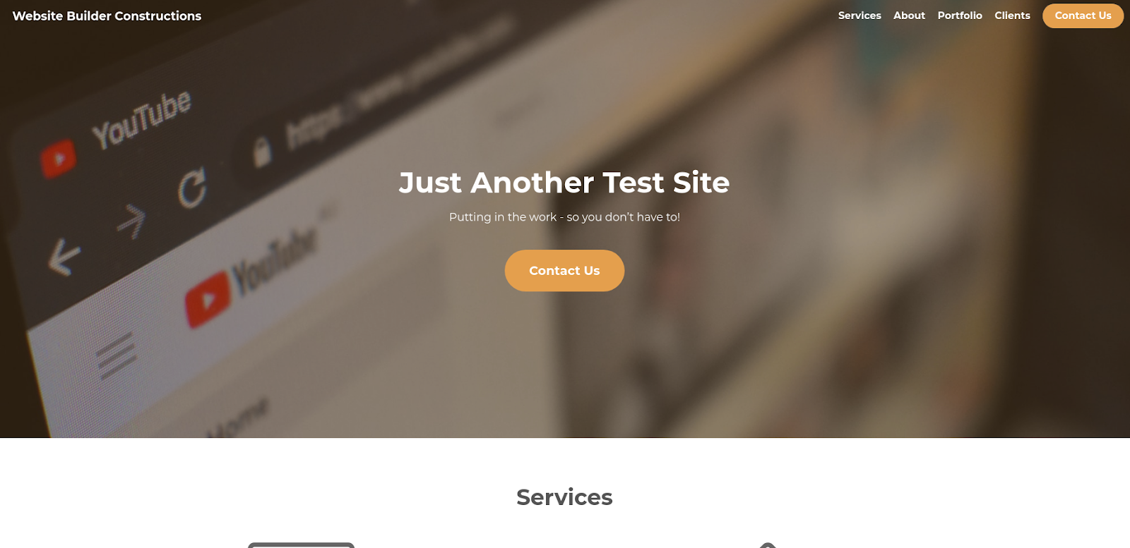 strikingly website creator test site