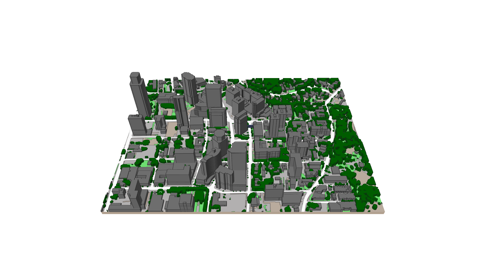 A model of a city  Description automatically generated with low confidence