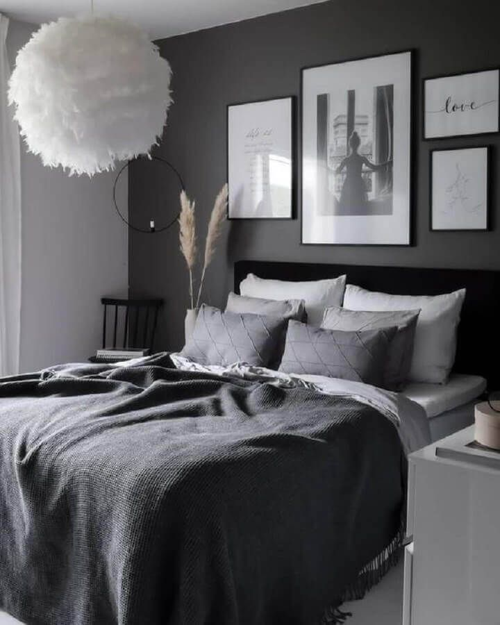Black and White Creates a Timeless Theme for Men's Bedroom Ideas