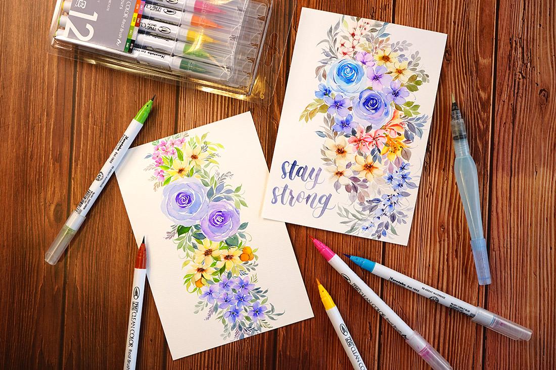 Brush Pen Floral Drawing Workshop