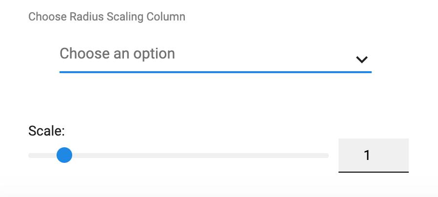 Radius scaling column