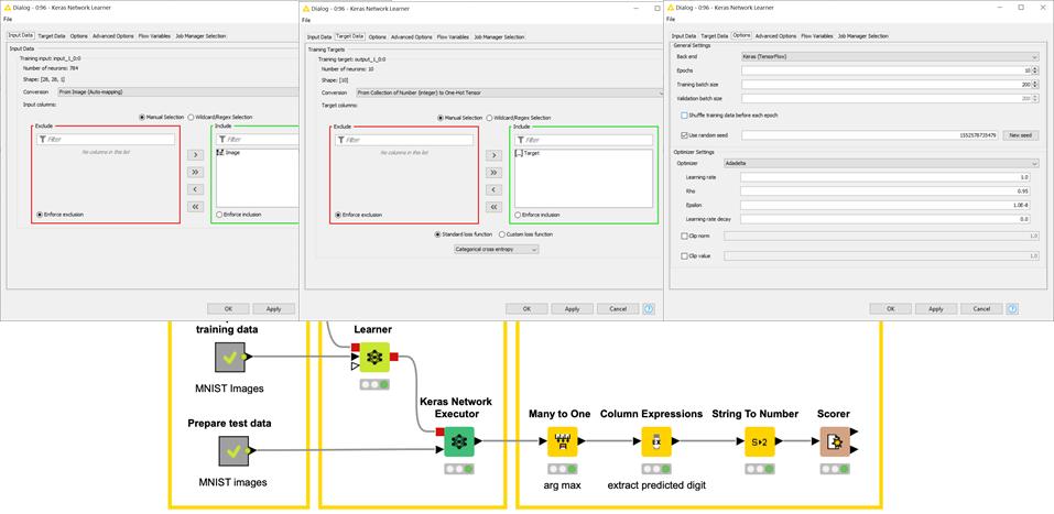 Configuring the Keras Network Learner node
