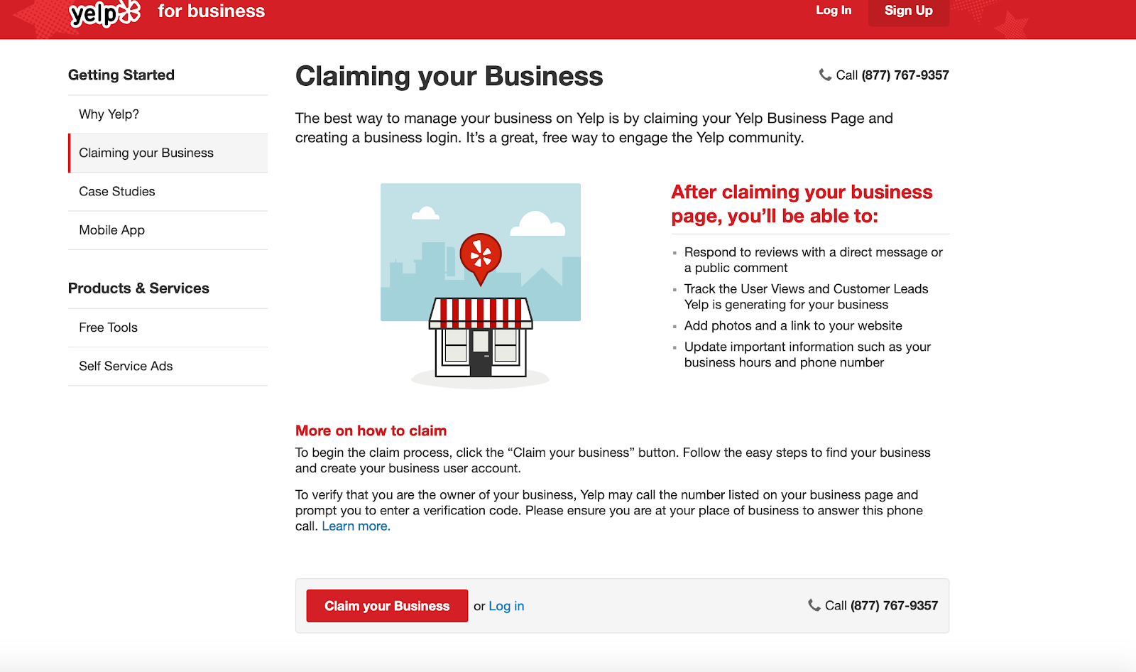 Claiming your business Yelp walkthrough