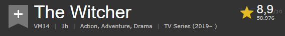 The Witcher Netflix le valutazioni del pubblico