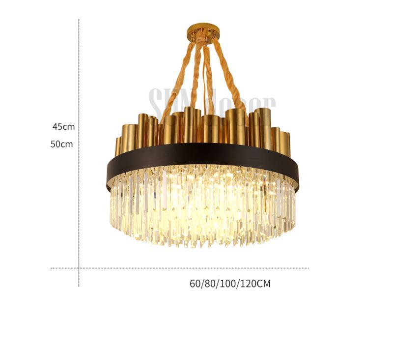 Đèn Chùm Pha Lê Cao Cấp Phòng Khách - SP000632
