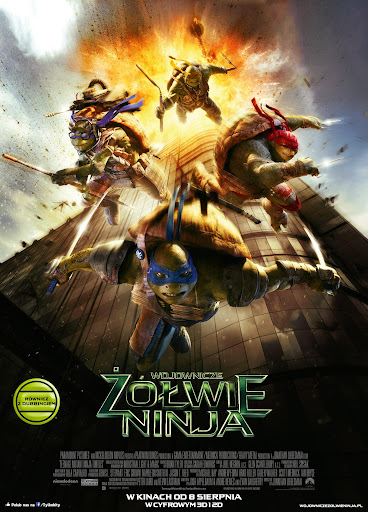 Polski plakat filmu 'Wojownicze Żółwie Ninja'