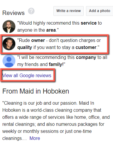 Maid in Hoboken - Review of Unhappy Customer