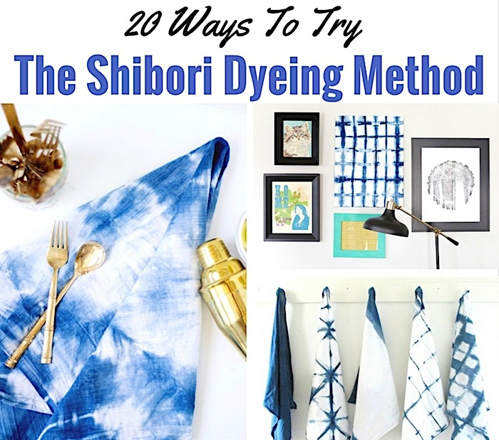 Shibori Dyeing DIYs - I'm always on the hunt for new craft ideas. Check out some of these amazing craft ideas and craft projects that are on my crafting radar right now!