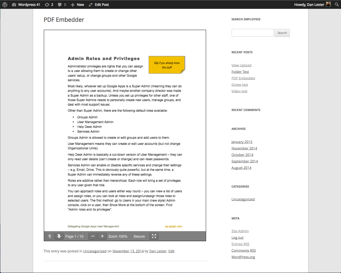 PDF embedder wordpress pdf plugin download