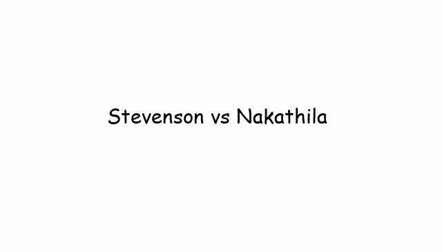 Stevenson vs Nakathila