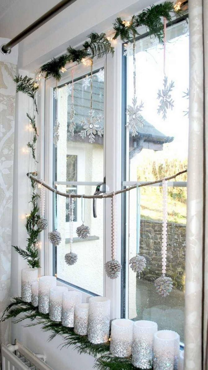 DIY decor windows for the New Year