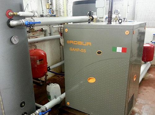 Газовый тепловой насос ROBUR GS, купить, монтаж, геотермальное кластерное бурение, сервисное обслуживание.