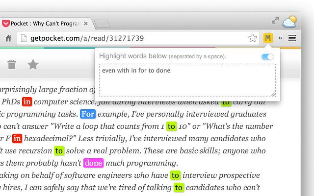 Multi-highlight screenshot