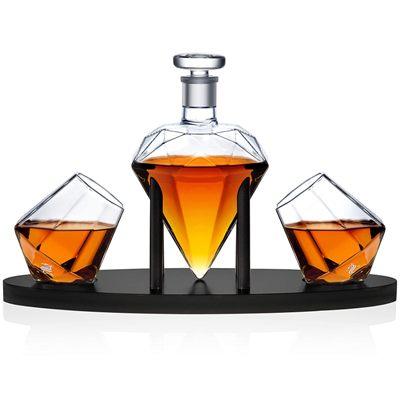 Dragon Glassware Diamond Whiskey Decanter & Glass