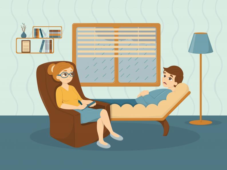 terapia psicologica ilustracion