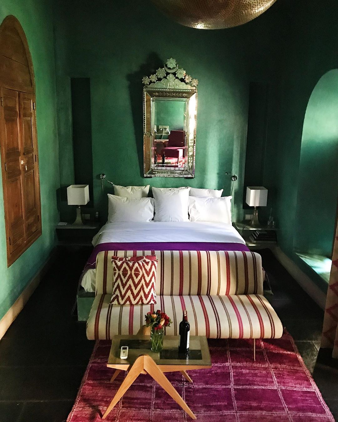 Emerald Tones Can Make Your Bedroom Mysterious