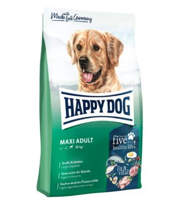 das richtige Trockenfutter für Golden Retriever: das Hundefutter fit & vital - Maxi Adult von der Marke Happy Dog