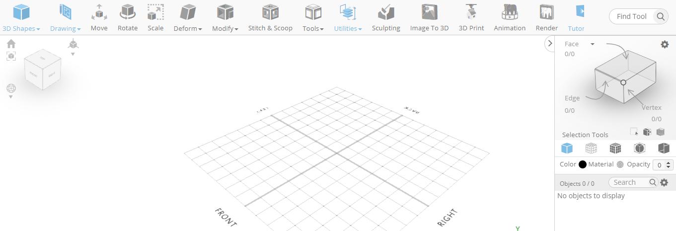 3D designing a flute in a 3D modeling software