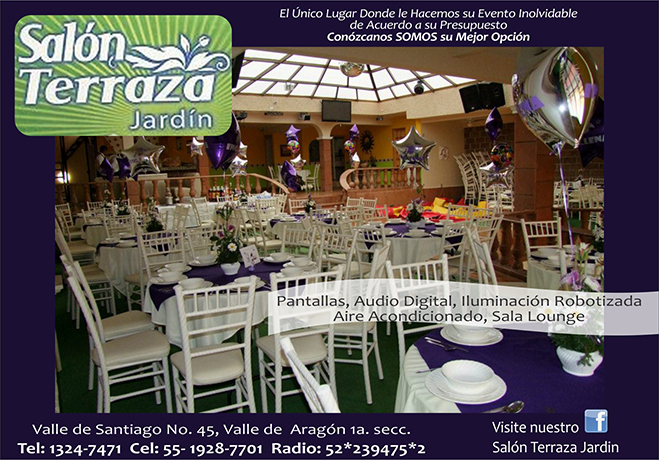 Salones de fiestas infantiles df red negocios publinet99 for Jardines pequenos para eventos df