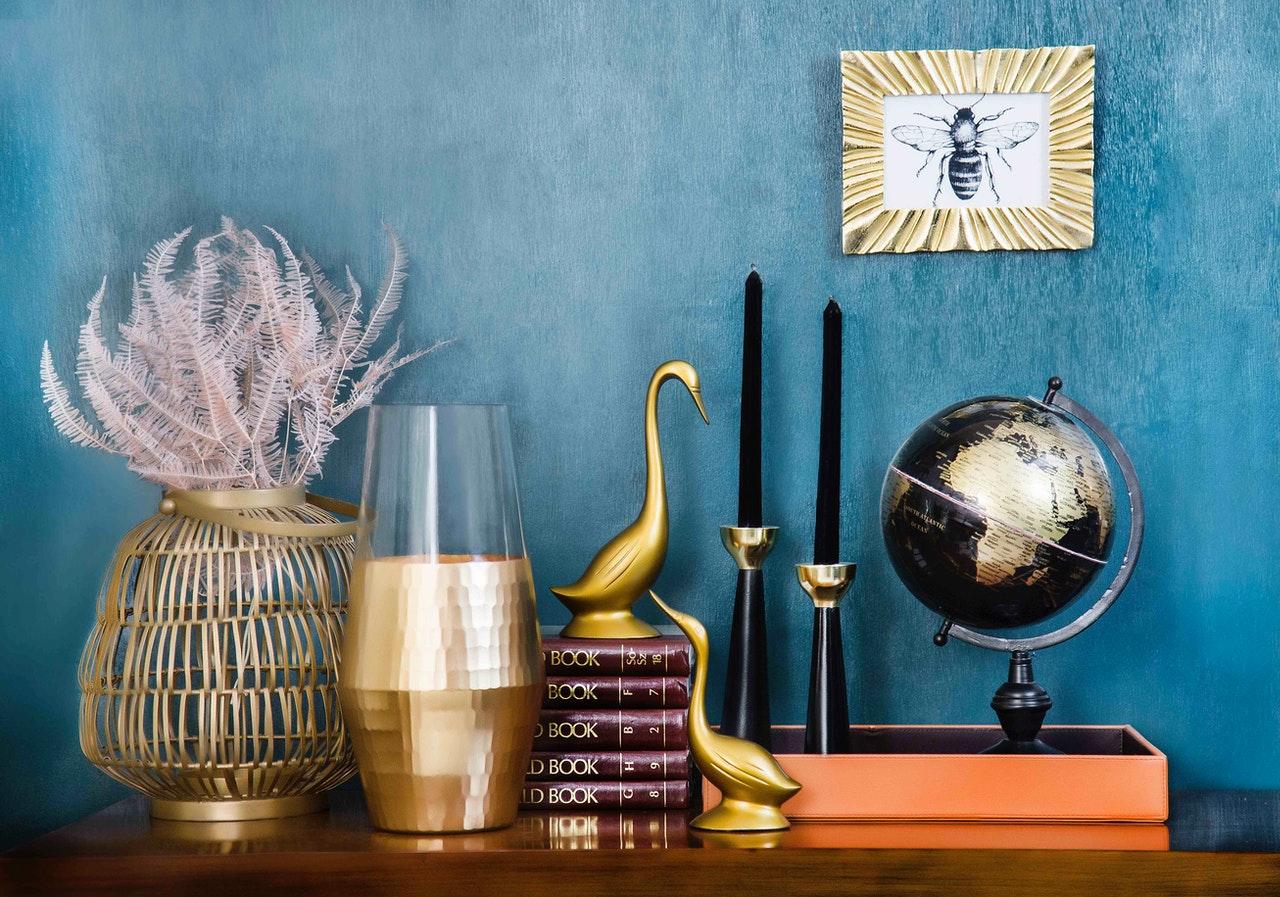 Aqua blues are going a big colour trend in home decor in 2021