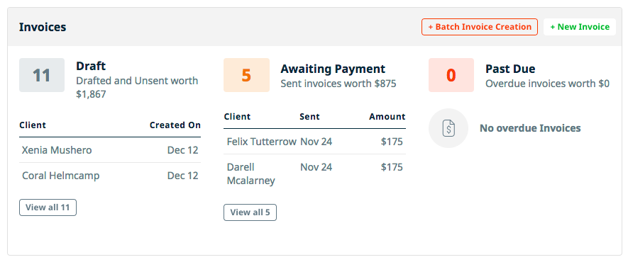 Batch Invoice Creation From The Work Overview Page  Invoice Creation