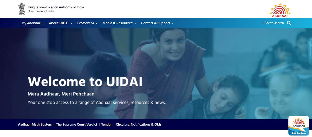 UIDAI website