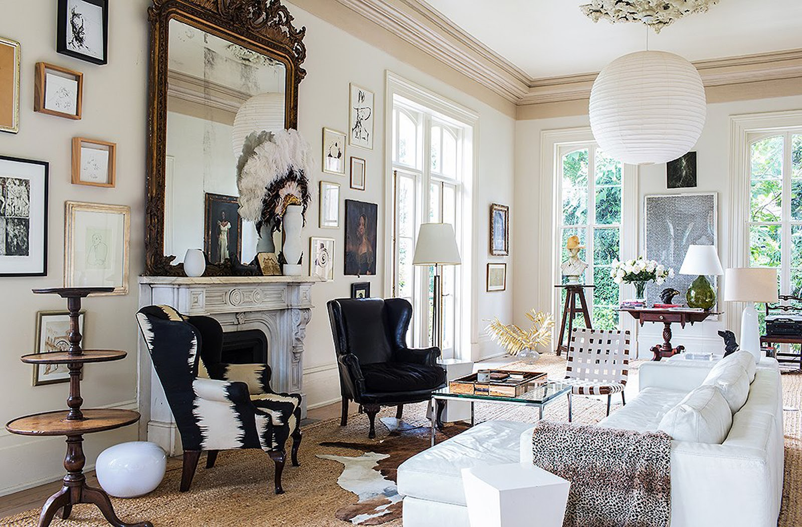Ruang tamu bergaya Victorian modern - source: stylebyemilyhenderson.com
