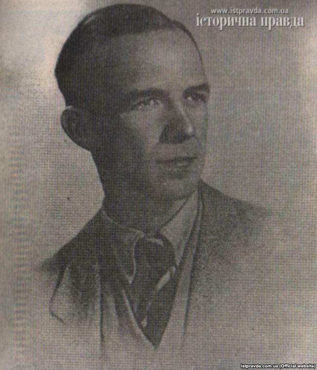 Євген Стахів (1918– 2014) – діяч українського підпілля на Донбасі в роки Другої світової війни. Фото 1940-х років