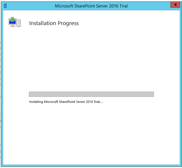 Start SharePoint 2016 RTM installation.