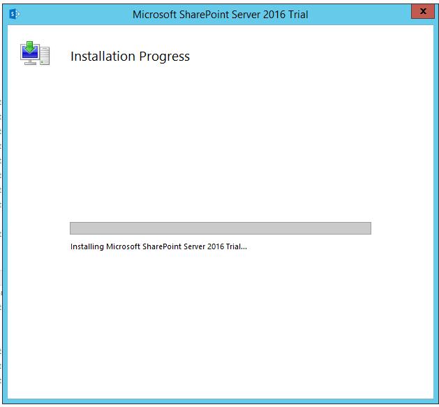 Start SharePoint 2016 RTM installation.
