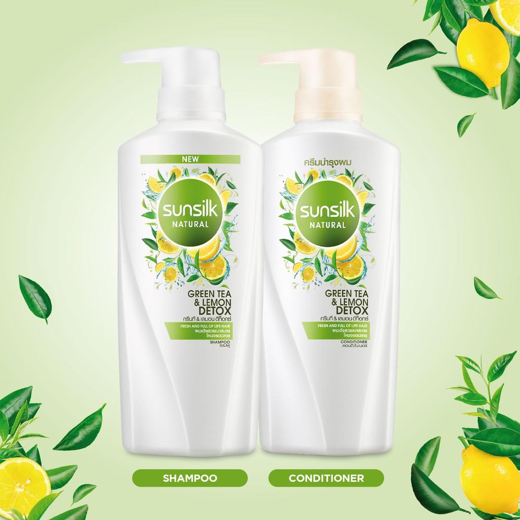 Image result for dầu gội Sunsilk Natural Green Tea & Lemon Detox dep365