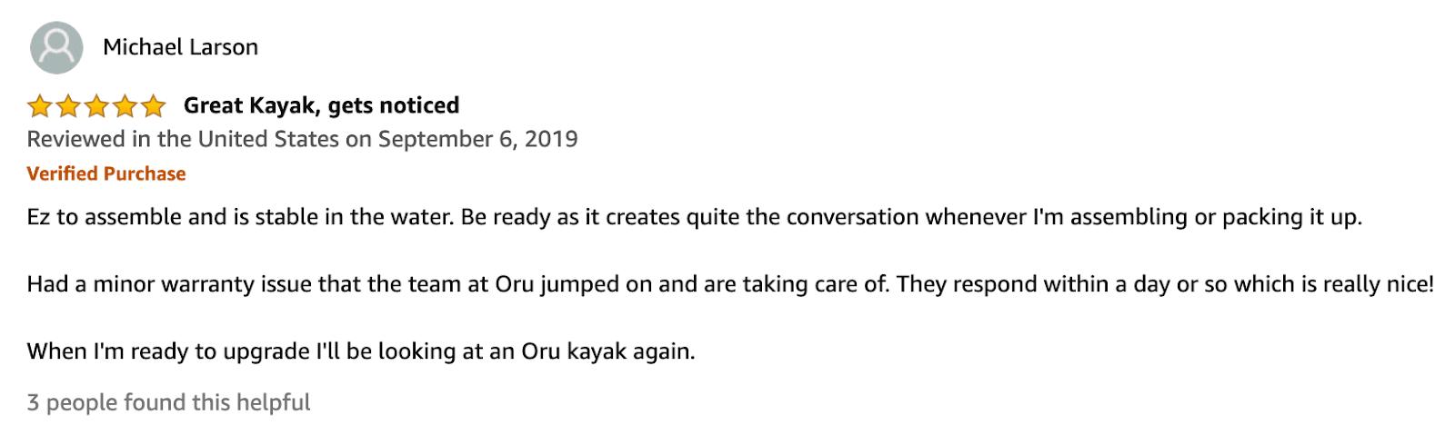 Oru Kayak reviews