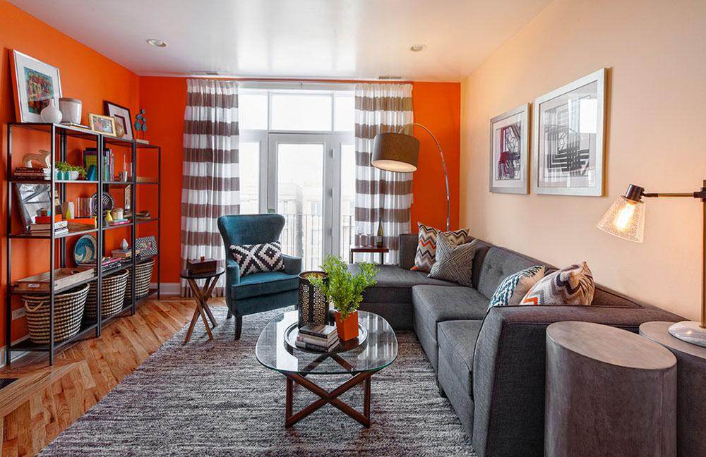 Contemporary-Condo-Living-Room-in-Chicago-by-Brooke-Lang-Design How to arrange furniture in an awkward living room