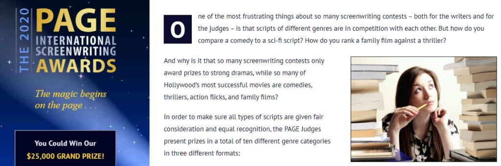 Screenwriting Contests for sending screenplays in 2020