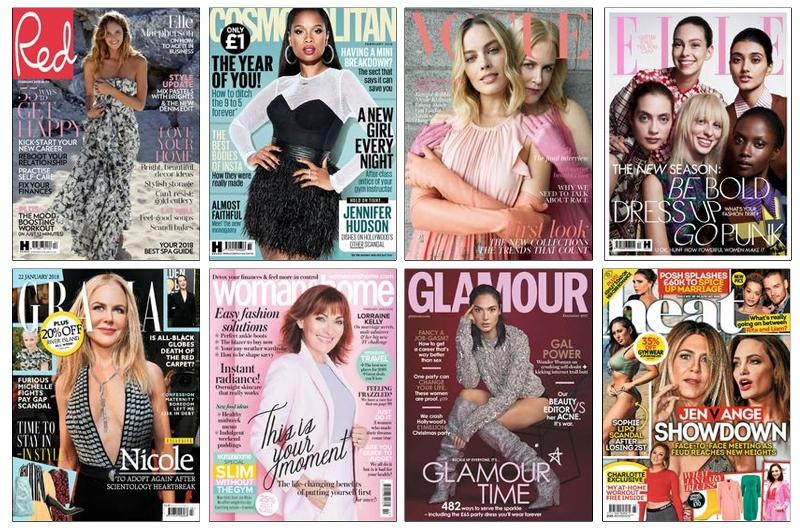 eMagazine covers for women