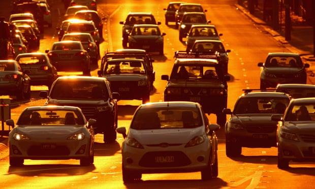 Rush hour traffic in Melbourne