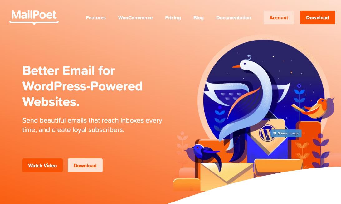 MailPoet homepage.