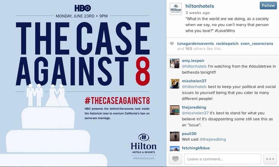 Hilton Hotels Instagram The Case Against 8