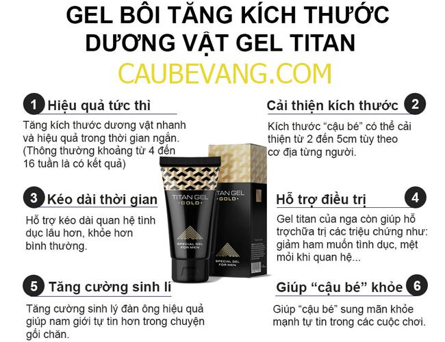 Công dụng của Gel Titan Gold
