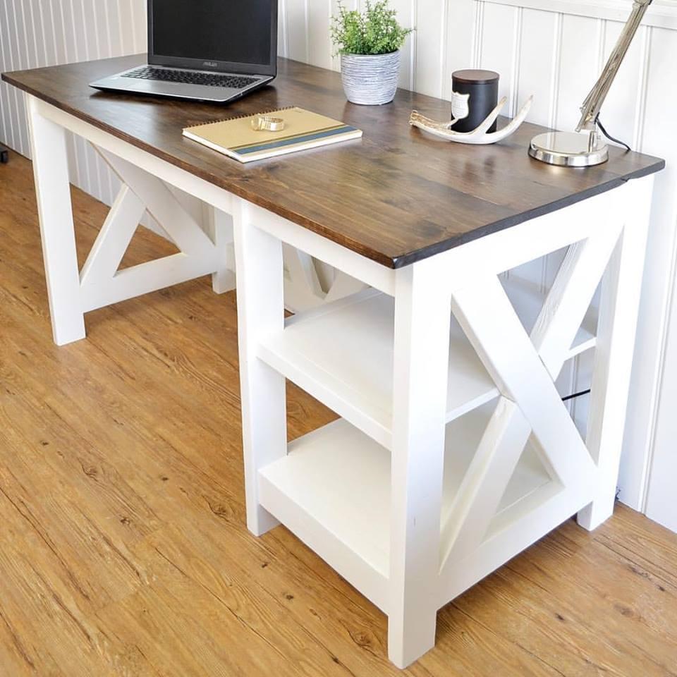 Plan de escritorio de granja de bricolaje